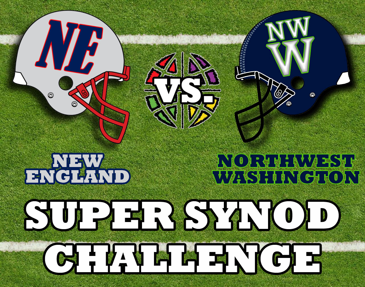 Super Synod Challenge New England helmet vs Northwest Washington helmet